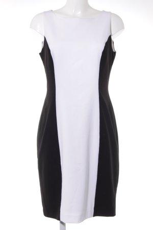 Apart Trägerkleid weiß-schwarz Colourblocking Business-Look