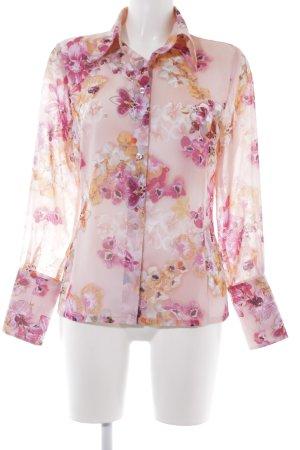 Apart Transparenz-Bluse Blumenmuster extravaganter Stil