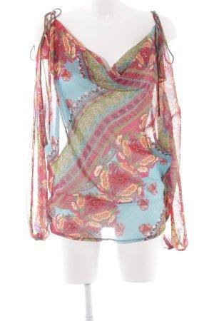 Apart Transparenz-Bluse florales Muster extravaganter Stil