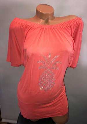 Apart Tunika Bluse in gr 38 Farbe Corall Pineapple Strass
