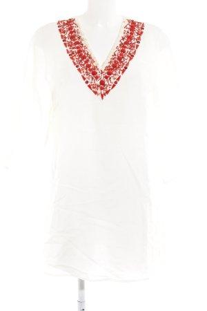 Apart Casacca bianco-rosso stile da moda di strada