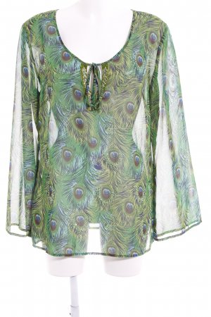 Apart Tunic Blouse green-lime-green floral pattern beach look