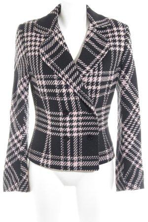 Apart Übergangsjacke schwarz-rosé Glencheckmuster Casual-Look