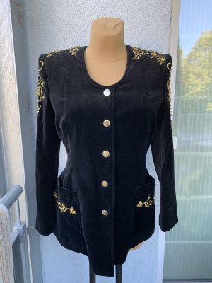 Apart Fashion Long Blazer black-gold-colored