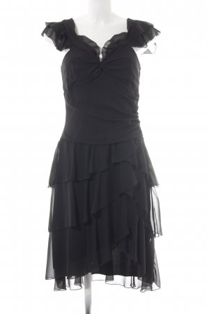 Apart Vestido estilo flounce negro elegante