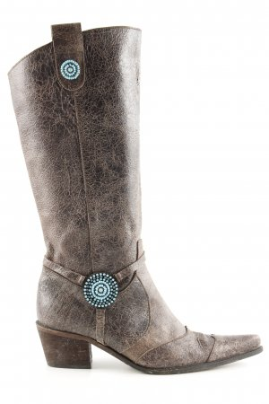 Apart Western Boots bronze-colored extravagant style