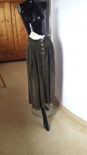 Apart Fashion Traditional Skirt olive green suede
