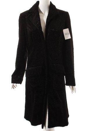 Apart Wintermantel schwarz extravaganter Stil
