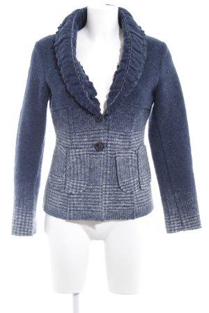 Apart Woll-Blazer blau-kornblumenblau Farbverlauf Casual-Look