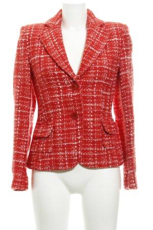 Apart Blazer in lana rosso-bianco motivo a quadri stile classico