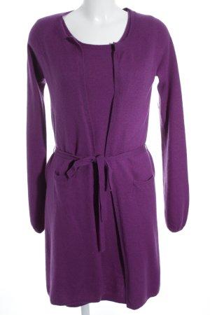 Apart Vestido de lana lila estilo clásico