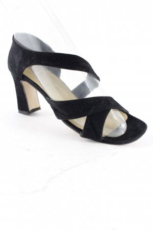 Apart High-Heeled Toe-Post Sandals black elegant