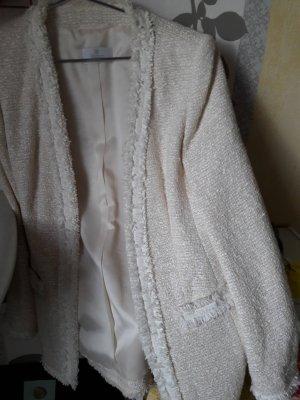 Apart  glamour Blazer in maglia beige chiaro Tessuto misto