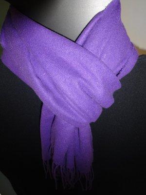 Sjaal met franjes donkerpaars