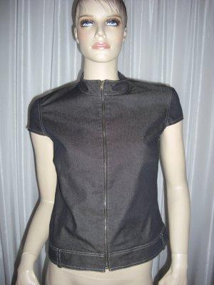 Apartes Design von STYLE WOMAN GR 38  Neuwertig jeansgrau-braun