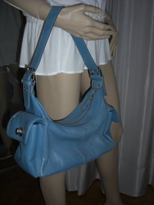 Apostrophe Carry Bag neon blue leather