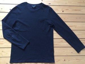 APC Paris Pullover Polo Piqué Pikee Shirt Longsleeve oversize schwarz Gr. L