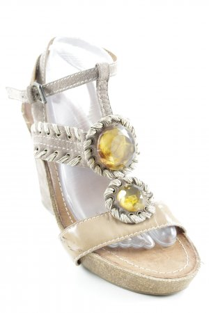 Apepazza Wedges Sandaletten graubraun Casual-Look