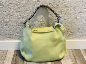 Carry Bag pale green-silver-colored imitation leather