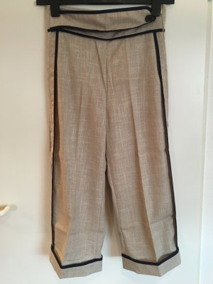 7/8 Length Trousers oatmeal-dark blue