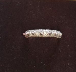 APM Monaco Ring Silber mit Swarovski?steinchen Nietendesign