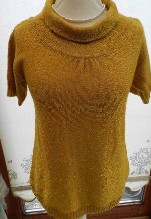 Apostrophe Short Sleeve Sweater dark yellow