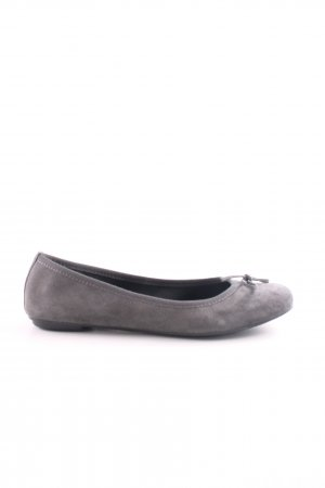 appetizer Ballerinas with Toecap light grey business style