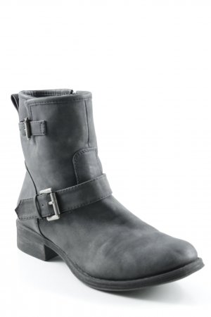 appetizer Booties anthracite biker look