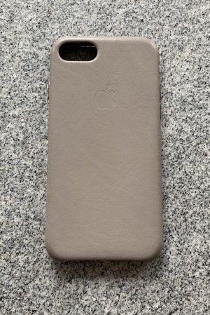 Mobile Phone Case grey brown leather