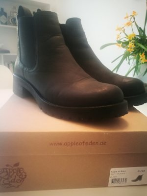 Apple of eden Low boot noir cuir