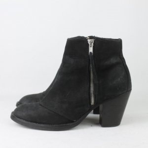 Apple of eden Bottillons noir cuir