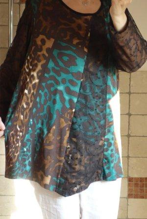 Aprico Camicia a tunica multicolore