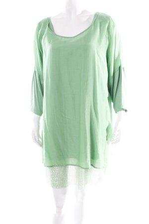 Aprico Robe tunique vert Ornements pailleté