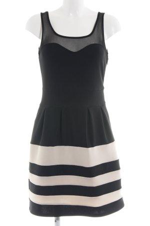 Apricot A Line Dress black-natural white striped pattern elegant