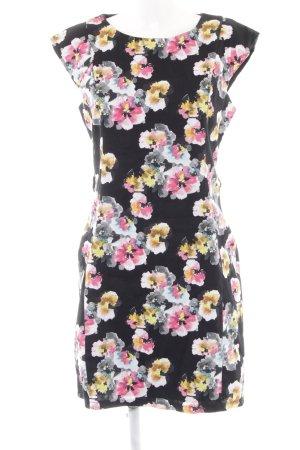 Apricot A-Linien Kleid Blumenmuster Elegant