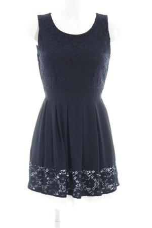 Apricot A-Linien Kleid dunkelblau-weiß Elegant