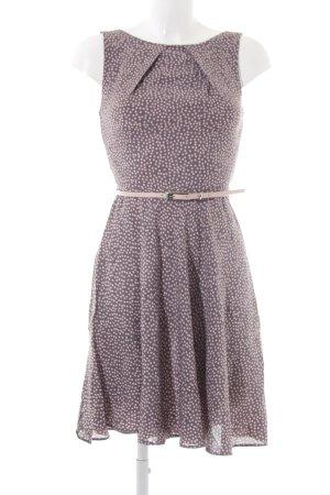 Apricot A-Linien Kleid graulila-altrosa Punktemuster 50ies-Stil