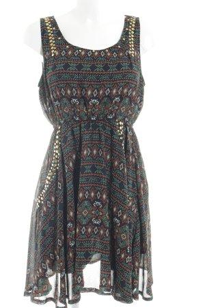 Apricot Blouse Dress Aztec pattern casual look