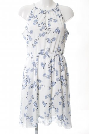 Apricot Chiffon Dress white-blue allover print casual look