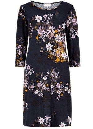 Apricot Druckkleid »Floral Silhouette Tunic Dress« mit Blumendruck; Farbe: blau-mehrfarbig