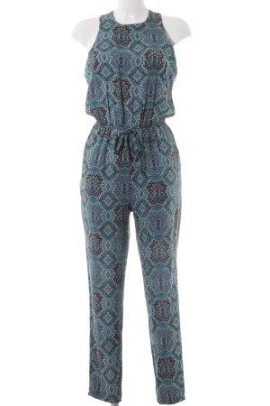 Apricot Jumpsuit schwarz-kadettblau Ornamentenmuster Casual-Look