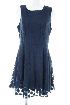Apricot Shortsleeve Dress dark blue spot pattern elegant