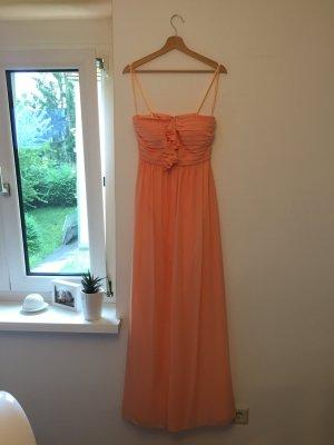 Apricot-/Lachsfarbenes Abendkleid/Brautjungfernkleid Gr. S
