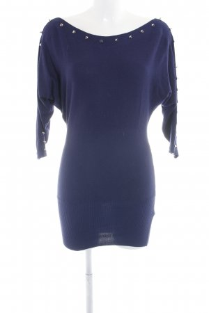 Apricot Longsleeve Dress neon blue-silver-colored casual look