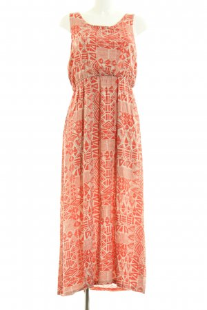 Apricot Maxi Dress light orange-natural white abstract pattern casual look
