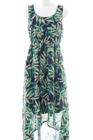 Apricot Maxi Dress floral pattern elegant