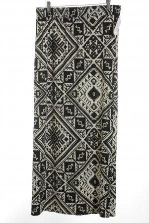 Apricot Maxi Skirt black-natural white abstract pattern casual look