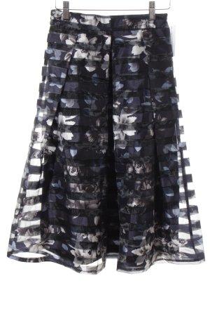 Apricot Falda midi azul oscuro-gris claro estampado floral estilo country