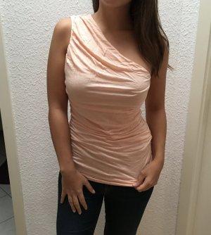 Apricot one Shoulder Top mit Raffungen von H&M in Gr. S