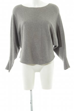 Apricot Crewneck Sweater light grey flecked casual look